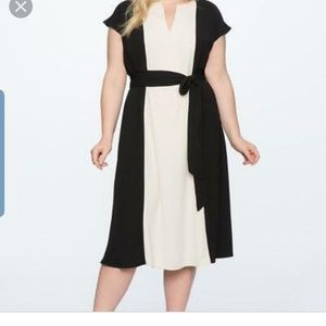 Eloquii Tie Strap dress with side slit; Size 28